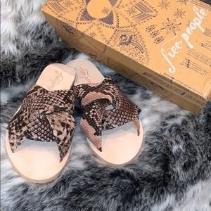Snake print free people sandals NEW